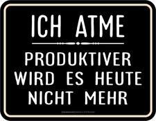 Panneau Métallique 17 X 22 cm, Ich Atme, Publicitaire sans Cadre Art. 3831
