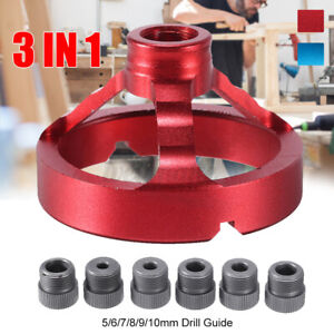 5-10mm Vertical Drill Guide Fixture Hole Jig Positioner Straight Angle Doweling