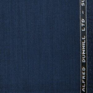 Medium Blue Super 100's All Wool Suiting by Alfred Dunhill - 2.40 Mtrs
