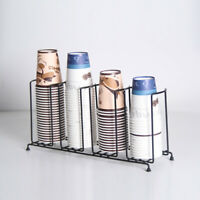 Heavy-duty Disposable Paper Water Coffee Cup & Lid Holder Dispenser Rack