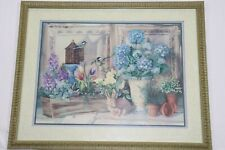 "Home Interiors Floral Picture by Linda Wacaster 24"" x 30"""