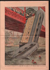 Atlantic City Electric Train Falls River USA 1906 ILLUSTRATION