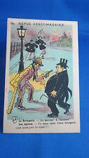 cpa illustrateur fantaisie bandit de grands chemins police humour voleur