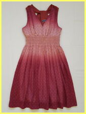 SPORTMAX CODE Maxmara MAROON PEACH OMBRE FLORAL SMOCKED FIT FLARE DRESS 40 6 4 2