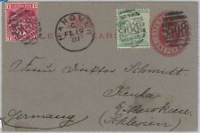 51821 - CAPE of GOOD HOPE - POSTAL HISTORY STATIONERY Letter CARD + STAMPS 1900
