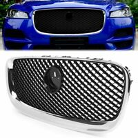 Front Upper Bumper Radiator Grille Grill Chrome & BLK For Jaguar XF 2012-2015 14