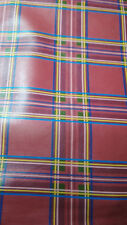 PINKY  RED PLAID  PATTERN PRINTED   SMOOTH  LAMB SKIN  LEATHER SE18