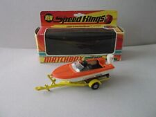 Matchbox Speed Kings K-25 A Power Boat & Trailer, 1971, in OVP !!!