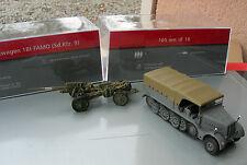 IXO 1/72 MILITAIRE TRACTEUR FAMO 18t sdkfz 9 +CANON SCHWERE 10,5 cm sK 18 !!