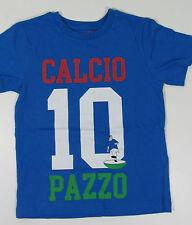 new DEBENHAMS bluezoo T shirt blue FOOTBALL  5- 6 y short sleeved