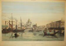 """RUSSIE """"CATHEDRALE D'ISAAC ET PALAIS DU SENAT"""" Lithographie 19ème A. DURAND"""