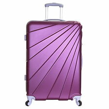 Extra Large Small Cabin Hard Shell Travel Trolley Hand Luggage Suitcase Bag Case Plum Fusion XL 76 Cm