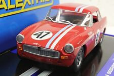 SCALEXTRIC C3488 MGB 1964 ROADSTER SEBRING WITH LIGHTS 1/32 SLOT CAR DPR READY