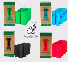 Dog Poop Bags 100% Biodegradable, Heavy Duty, Eco Friendly, Variety of Colors.