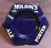 *Vintage MOLSON'S ALE BEER Porcelain Advertising Ashtray