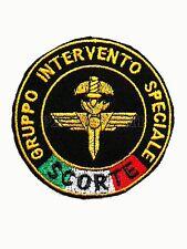 Patch GIS Scorte Gruppo Intervento Speciale Carabinieri con Bandiera Italia
