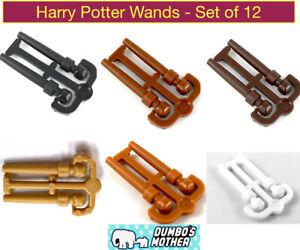 Lego Harry Potter Wand Spell Magic Minifigure Tool Utensil 6 Colors 12 Wand Set