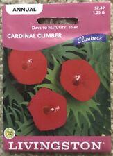 *Cardinal Climber Vine Plant Seeds - 1.25g - Absolutely Beautiful Flowers! Bg3