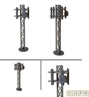 DAPR - N Gauge Model Railway Scenery Building Kit - Mobile Phone Mast/Tower x 2