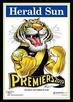 2019 AFL PREMIERS GRAND FINAL RICHMOND TIGERS PREMIERSHIP WEG KNIGHT POSTER