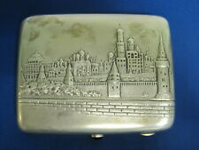 Moscow. Kremlin. Church. Cigarette Case. Silver Sterling. Old Russia