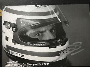 British Touring Car Jason Plato Signed Card Toledo Cupra Seat Sport Uk 2004
