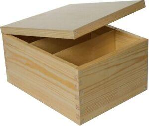 Creative Deco Holzkiste mit Deckel   Fotobox Briefbox Schatulle Holztruhe
