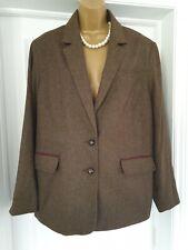Tu Mujer Premium UK 22 Tweed impresionante Forrado Chaqueta Blazer Talla Grande BNWT