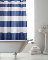 Blue Loft Stripe Bathroom Accessories Country Club Hookless Shower Curtain