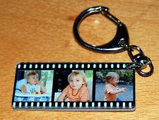 Porte-clés PELLICULE personnalisé avec 3 photos