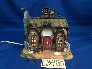 Lemax Spooky Town Coffin Cafe #45675 As Is EB480