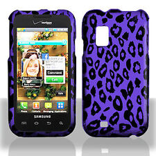 For Samsung Fascinate i500 Protector Hard Case Snap Phone Cover Purple Leopard