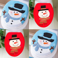 Christmas Toilet Cover Decoration Christmas Snowman Lid Single Toilet Cover Hot