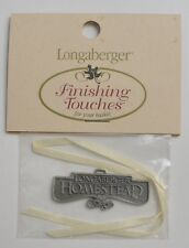 Longaberger Homestead Pewter Basket Tie-On Decorative Collectible Home Decor