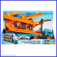 NEW (Mattel GNM62) Hot Wheels City Lift & Launch Hauler Playset With 1 Car
