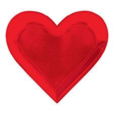 Saint Valentin Rouge Cœur Feuille Assiettes X 8