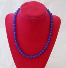 18 INCH bright purple NATURAL JADE   NECKLACE... HAND STRUNG BEADS!