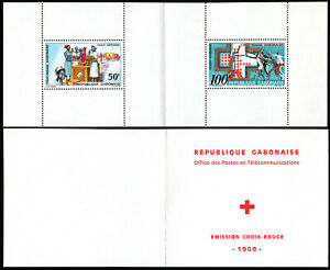 Gabon C69a booklet, MNH. Support for Red Cross, 1968