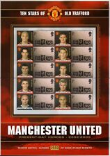 MANCHESTER UNITED/Man U Present Day Heroes 2002-3 Football Stamp GB Smiler Sheet