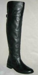 NEW Frye SHIRLEY Grain Leather OVER THE KNEE Boots Women Black MSRP$498