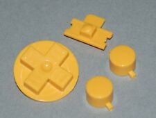 Yellow DMG Game Boy Replacement Buttons - Original Nintendo Gameboy - plastic