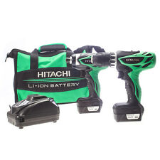 HITACHI KC10DFL 12V IMPACT/COMBI DRILL TWINPACK INC 2 10.8V X 1.5AH BATTERIES