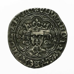 Edward iv hammered silver Groat  London mint  mm Heraldic Cinquefoil  S2100