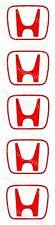 5 H Adhesivos Tapón de centro de Honda 55x45 calcomanías R S DC5 EP3 EP2 S2000 Civic ref 00030
