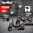BULLET 1000W Electric Scooter 48V Turbo Red Black LED Light Adults Off Road Tyre <br/> Powerful Motor   Quick Release   Alloy Mag Wheels