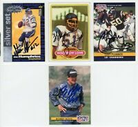 LOS ANGELES CHARGERS Autographed Football Card Lot - 4 Autos STAN HUMPHRIES LOWE