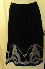 Intro Love the fit Black long skirt with embroidery Size XL 100% Cotton