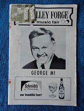 George M! - Valley Forge Playbill w/Ticket - June 28th, 1969 - Mickey Rooney