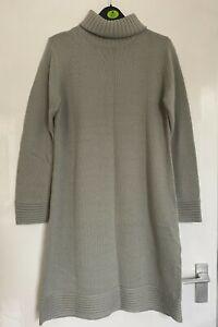 LADIES WOMEN PRETTY AUTUMN WINTER ROLL NECK KNITTED JUMPER DRESS SIZE 16 NEW