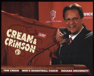 Tom Crean Signed 8x10 Photo College NCAA Basketball Coach Autographed Georgia
